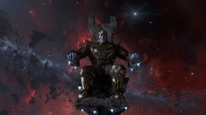 Thanos IMAX Marvel Comics Marvel Cinematic Universe Space Movies Science Fiction Armored Armor Smili 1920x1080 Wallpaper