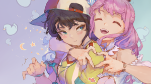 Oozora Subaru Himemori Luna Hololive Virtual Youtuber Crossover Fictional Character Anime Anime Girl 5000x3635 Wallpaper
