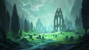 Andreas Rocha Digital Art Landscape Castle 2500x1250 wallpaper