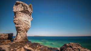 Horizon Nature Ocean Ontario Rock 2048x1367 Wallpaper