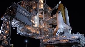 Space Shuttle Atlantis Space Shuttle NASA Technology Aircraft Rocket Night Vehicle American Flag Sta 2560x1440 Wallpaper