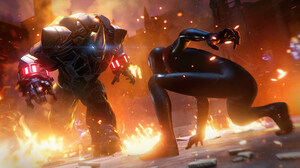 Marvel Comics Marvel 039 S Spider Man Miles Morales Miles Morales Rhino Marvel Comics Spider Man 3840x2160 Wallpaper