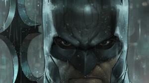 Artwork Comic Art Batman Men Rain Angry 1920x2915 Wallpaper