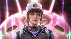 Girl D Va Overwatch 3840x2160 wallpaper
