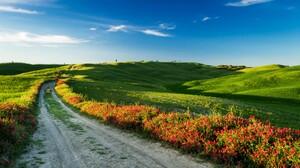 Greenery Meadow Path Road 3810x2200 Wallpaper