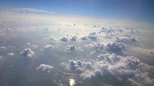 Clouds Air Airplane Sun Blue 3072x1728 Wallpaper