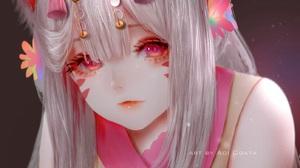 Anime Anime Girls Aoi Ogata Simple Background Original Characters 1394x1200 Wallpaper