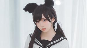 Asian Black Hair Brown Eyes Girl Model Woman 3840x2160 Wallpaper