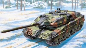 Artistic Leopard 2 Tank 1920x1080 Wallpaper
