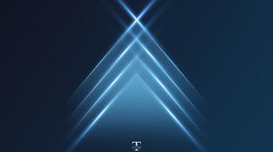 Science Blue Digital Lighting Time Triangle 3000x2000 Wallpaper