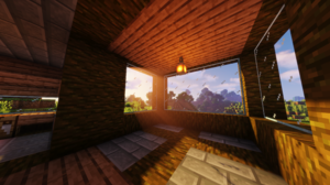 Minecraft Shaders Sun Rays Forest 3840x2160 Wallpaper