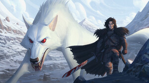 Francisco Vasquez ArtStation Fantasy Art Fantasy Men Jon Snow Game Of Thrones TV Series Sword Creatu 1920x1071 wallpaper