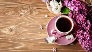 Coffee Cup Flower Still Life 5292x3528 Wallpaper