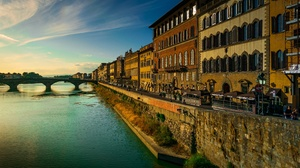 City Cityscape Florence Italy Arno River 2560x1707 Wallpaper