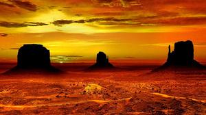 Desert Earth Monument Valley Rock Sunset Utah 1920x1200 Wallpaper