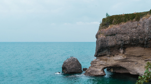 Nature Blue Water Cliff 6926x3896 Wallpaper