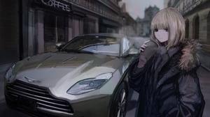 Blonde Car Coffee Short Hair 2787x2000 Wallpaper
