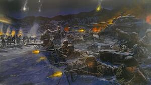 Soldier United States Army War Men Battle Artwork 3255x1799 Wallpaper
