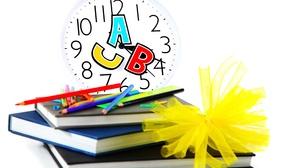 Book Clock Pencil School 3476x2540 Wallpaper