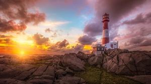 Rock Cloud Horizon Sunrise 3840x2160 Wallpaper