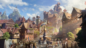 Fantasy City 2086x1080 Wallpaper