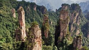 Landscape China Mountains Rocks Trees Zhangjiajie National Park 1920x1280 wallpaper