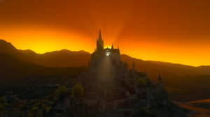 The Witcher 3 Sunrise Sunset Chateau Toussaint The Witcher 3 Wild Hunt 1920x1080 Wallpaper
