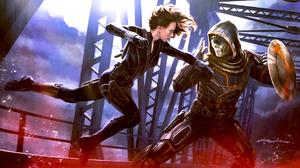 Black Widow Taskmaster Marvel Comics 1920x1080 wallpaper