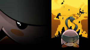 Kirby Solid Snake Super Smash Brothers Brawl 1680x1050 wallpaper