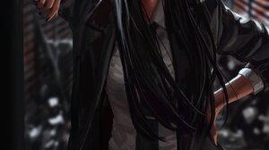 GUWEiZ Bad Guys Digital Art Digital Painting Artwork Portrait Display Black Hair Women Suits Black C 3276x4096 wallpaper