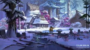 Artwork Fantasy Art Snow Winter 1900x1050 Wallpaper