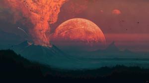 JoeyJazz Volcano Digital 2560x1440 Wallpaper