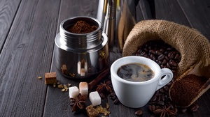 Coffee Coffee Beans Cup Star Anise Still Life Sugar 2048x1367 Wallpaper