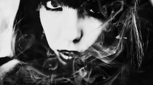 Women Face Portrait Monochrome Photography 2048x1366 Wallpaper