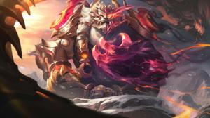 Volibear Volibear League Of Legends League Of Legends Riot Games 4K GZG Digital Art Dragon 7680x4320 wallpaper