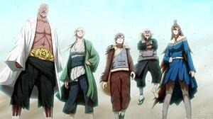 Naruto Shippuuden Anime Manga Tsunade Mei Terumi Gaara Raikage Tsuchikage Anime Boys Hokage Mizukage 1920x1080 Wallpaper