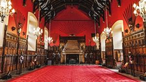 Edinburgh Castle Interior Room Scotland Medieval Spear Armor 5583x3140 wallpaper