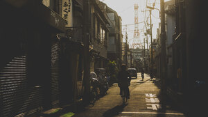 Photography Masashi Wakui City Building Tokyo Wires Power Lines Sunset Shadow Cityscape 2048x1362 Wallpaper
