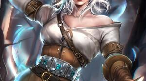 Sakimichan Realistic The Witcher 3 Wild Hunt Fantasy Girl Sword Cirilla Fiona Elen Riannon Video Gam 1314x1700 Wallpaper