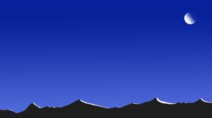 Moon Mountain Night Sky 7680x4320 Wallpaper