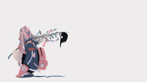 Anime Anime Girls White Background Original Characters Bamboo Streetwear 3840x2160 Wallpaper
