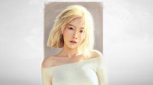 Women Blonde Asian Artwork Girls Generation Kim Taeyeon SNSD 2250x1185 Wallpaper