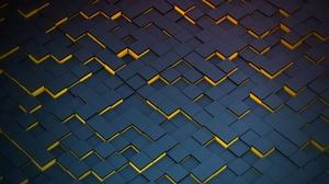 Artistic Cube Geometry Pattern 2560x1440 Wallpaper