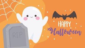 Ghost Bats Halloween Tombstones 7973x5316 Wallpaper