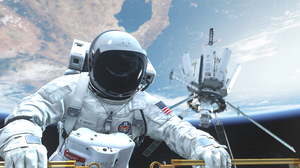 Astronaut Spacesuit NASA Space Technology Orbital View Helmet American Flag Stars And Stripes Earth  3840x2160 Wallpaper