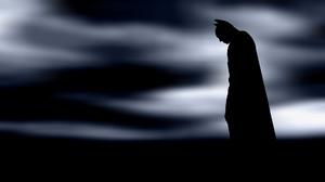 The Dark Knight Batman DC Comics Silhouette 1920x1080 Wallpaper