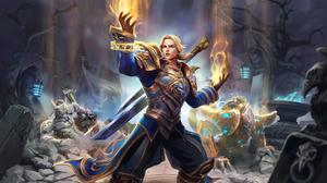Heroes Of The Storm Video Game Art Blizzard Entertainment Hots Digital Art Anduin Wrynn Tassadar Gen 2560x1440 Wallpaper
