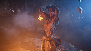 Far Cry Far Cry Primal Video Game Art Video Game Characters Fire Cinematic Bones Fur 3840x2160 Wallpaper