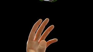 Black Art Hand Gesture Globe CGi Digital Art Rendering 3D Sculpture Grass Ocean View Dark Background 1434x2560 Wallpaper