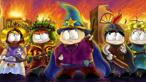 Kenny McCormick Kyle Broflovski Eric Cartman Stan Marsh Butters Stotch 5900x2800 Wallpaper